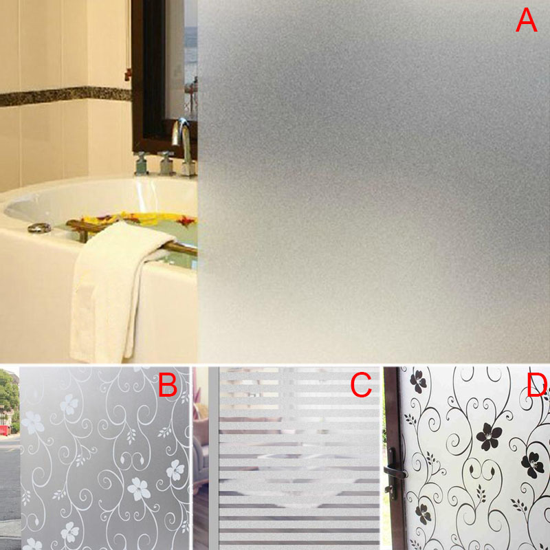 Frosted Walls Sticker,Window Door Privacy Film Sticker,PVC Waterproof Anti-UV Frosted Home Decor For Glass/Walls 200 x 60CM E2S
