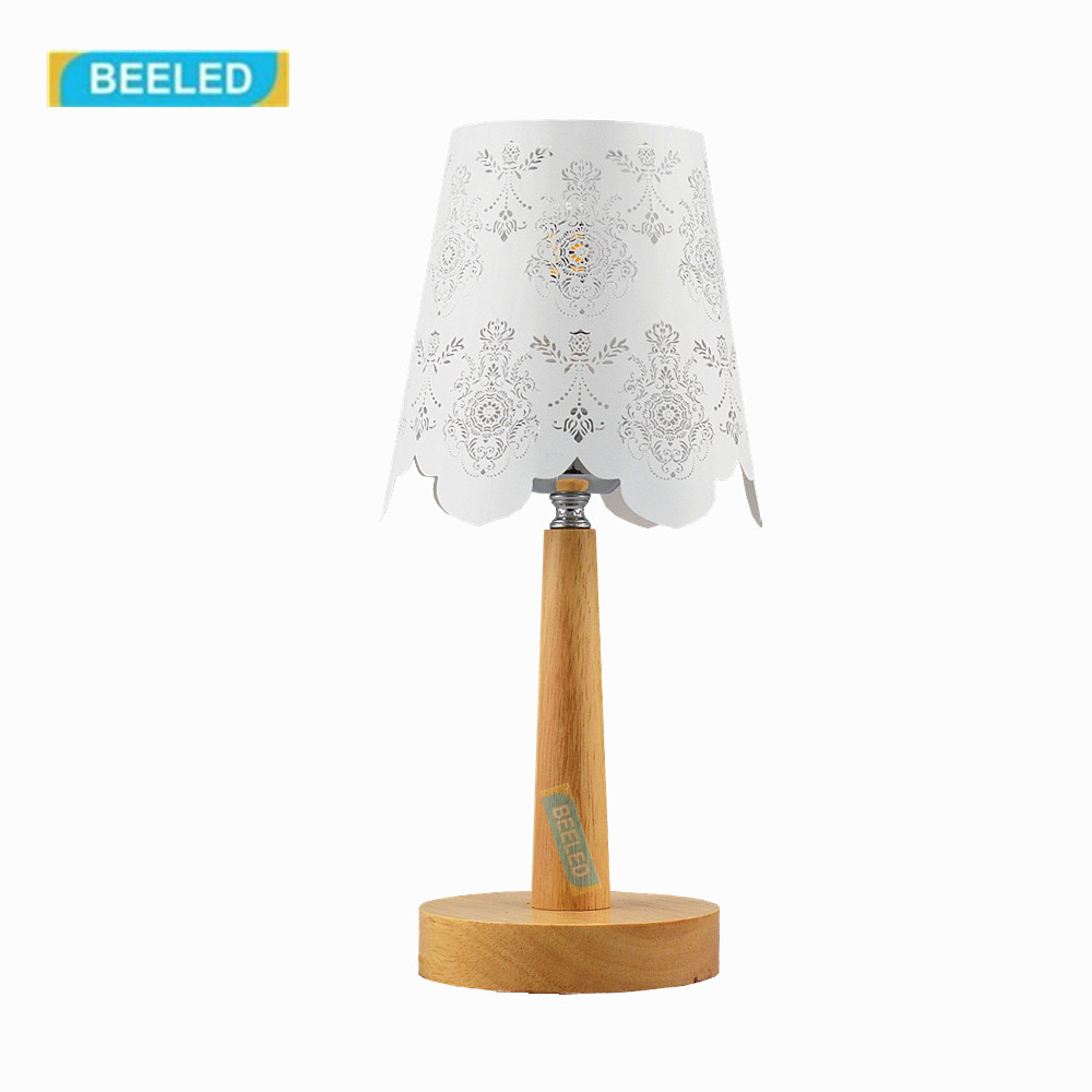 Table lamp for living room Home decorations for living room Wood lamp Table lamps for bedroom Night light White lampshade novelty magnetic floating lighting bulb night light wood color base led lamp home decoration for living room bedroom desk lamp
