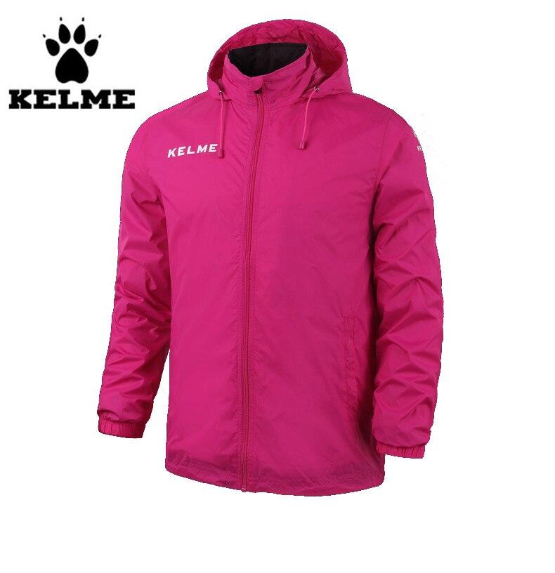 ФОТО Kelme Men's Stand Collar Waterproof Raincoats Hooded Jacket K15S604 Rose