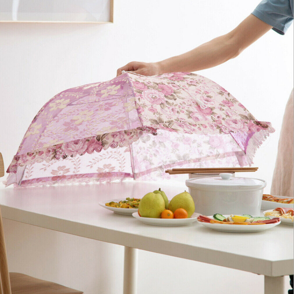 Kitchen Food Umbrella Cover Barbecue Party Camping Cake Fly Mosquito Mesh Foldable Nets