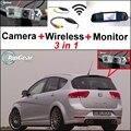 3 in1 Especial Retrovisor Câmera Wi-fi Sem Fio + Receptor + espelho Monitor de Back Up Sistema De Estacionamento Para SEAT Altea XL Stationwagon