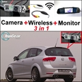 3 in1 Special Rear View Wifi Camera + Wireless Receiver + Mirror Monitor Back Up Parking System For SEAT Altea XL Stationwagon