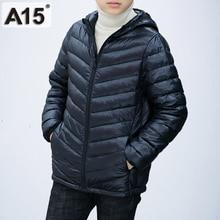 A15 Children Clothing Boys Winter Jacket 2019 Brand Hooded Kids Girls Winter Coat Long Sleeve Warm Parka Outwears Big 10 12 Year