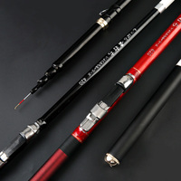ultra light super hard hollow rod 4.2m 5.2m 6.2m red black two color carbon front end fishing rod telescopic feeder pole