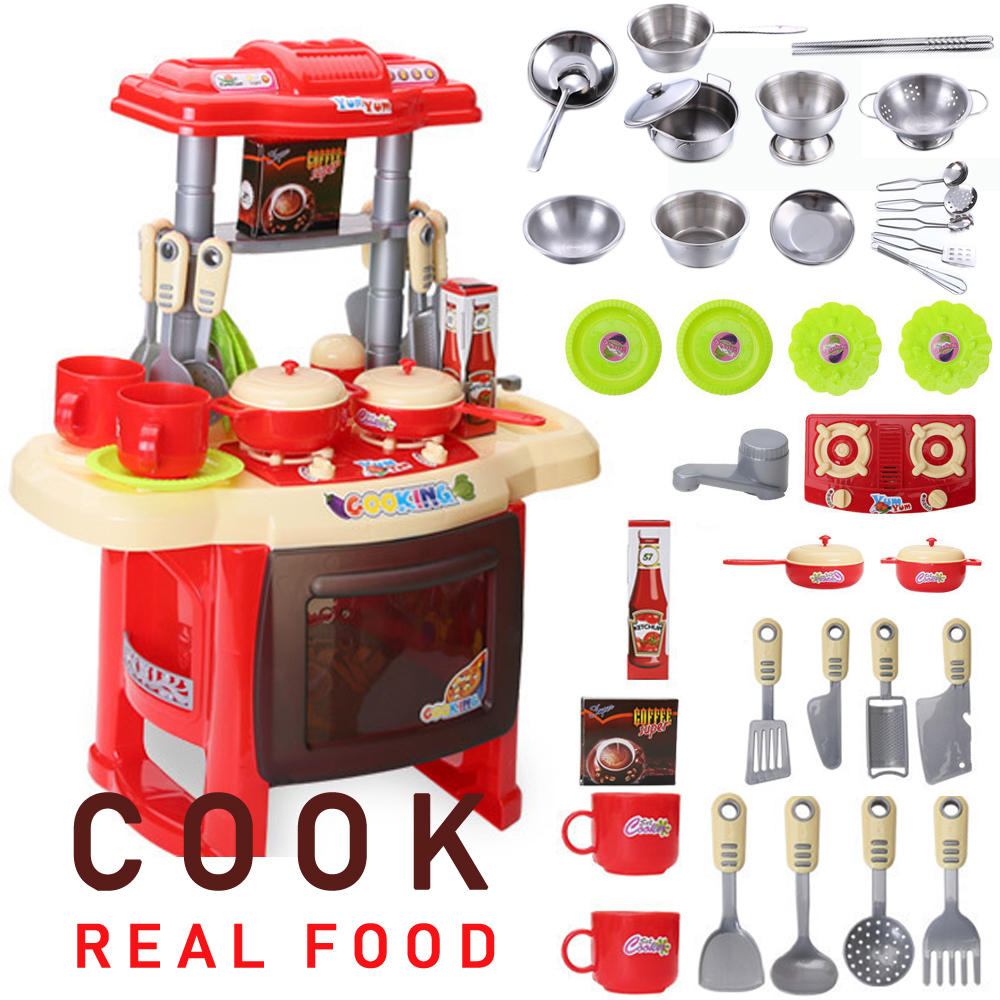 Baby Miniature Kitchen Plastic Pretend Play Food Children Toys With Music Light Kids Kitchen Cooking Toy Set For Girls Games Hot Kitchen Toys Aliexpress