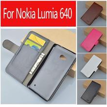 J & R Популярный бренд продажи забронировать Дизайн Бумажник кожаный чехол для Microsoft Nokia Lumia 640 чехол с подставкой и визитница