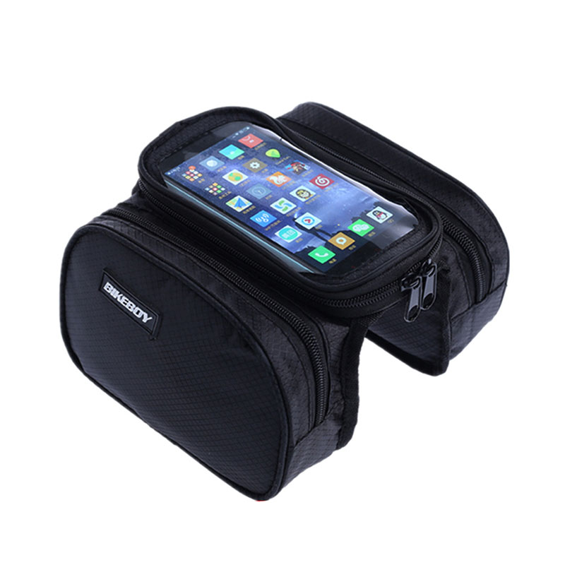 Bikeboy <font><b>Cycling</b></font> frame tube bike <font><b>bag</b></font> Waterproof <font><b>Bag</b></font> MTB Road Mountain Bicycle Case support 5.2 / 5.7 / 6.2 inche cell <font><b>phone</b></font>