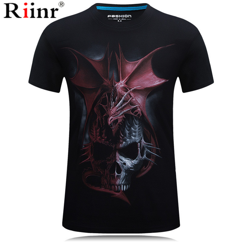 Brand Skull T shirt Blood Clothes Funny Clothing Hip-Hop Tees 3D Tops T-shirt Men Short Sleeve Male Fashion Homme dropshipping