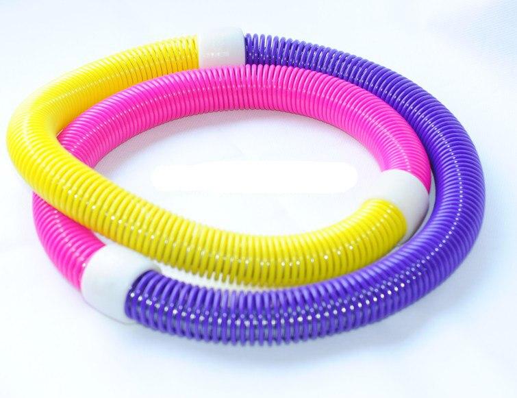 Yüksek kalite çok renkli Hula hoop ince bel Hoop Yüzük güzel spor ağırlık ekipmanları