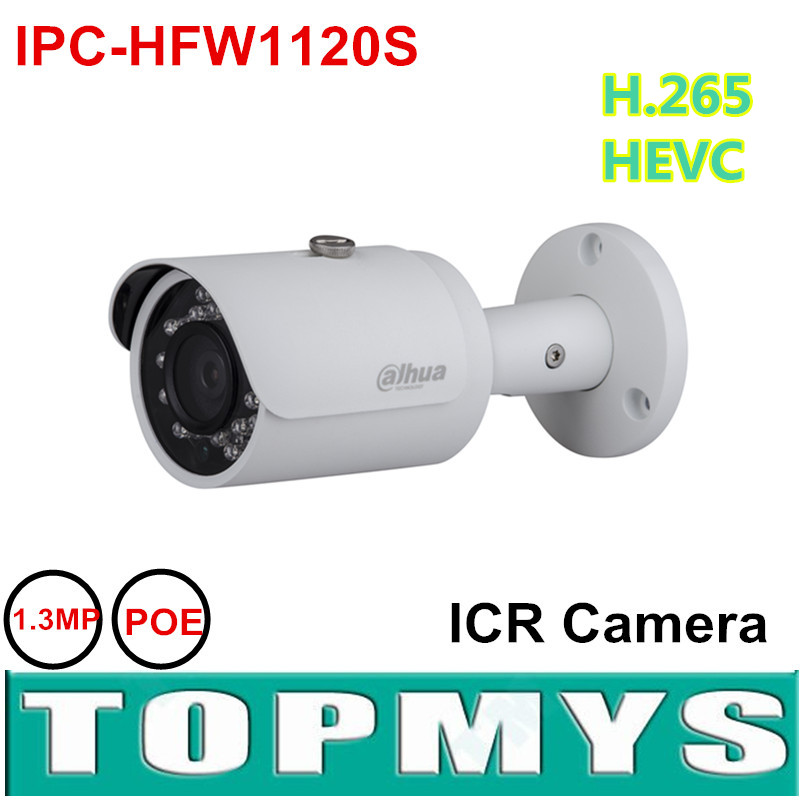 ФОТО 4PCS/LOT Free shipping Dahua 1.3MP POE IP Camera IPC-HFW1120S IR 30M Mini Bullet Camera H.264 Outdoor security CCTV Camera