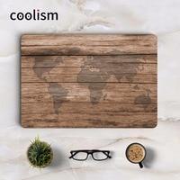 Oak Wood Grain World Map Laptop Sticker Full Cover Skin For Macbook Pro Air Retina Mac