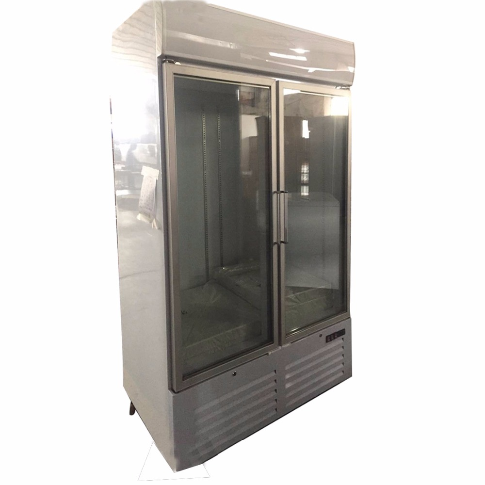 -18~-22 Degree OEM 1 & 2 Glass Commercial Swing Door Freezer Refrigerator For Shop And Kitchen Restaurant