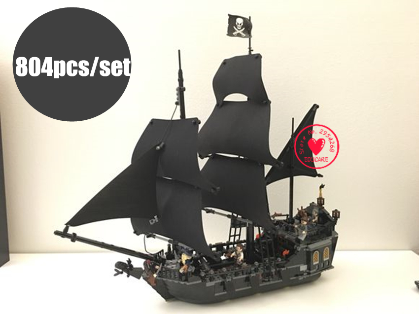 NEW The Black Pearl Pirates of Caribbean fit legoings Pirates ship boat figures Building Block bricks 4184 gift kids Toys diy 1 6 pirates of the caribbean angelica headsculpt for diy 12inch doll parts