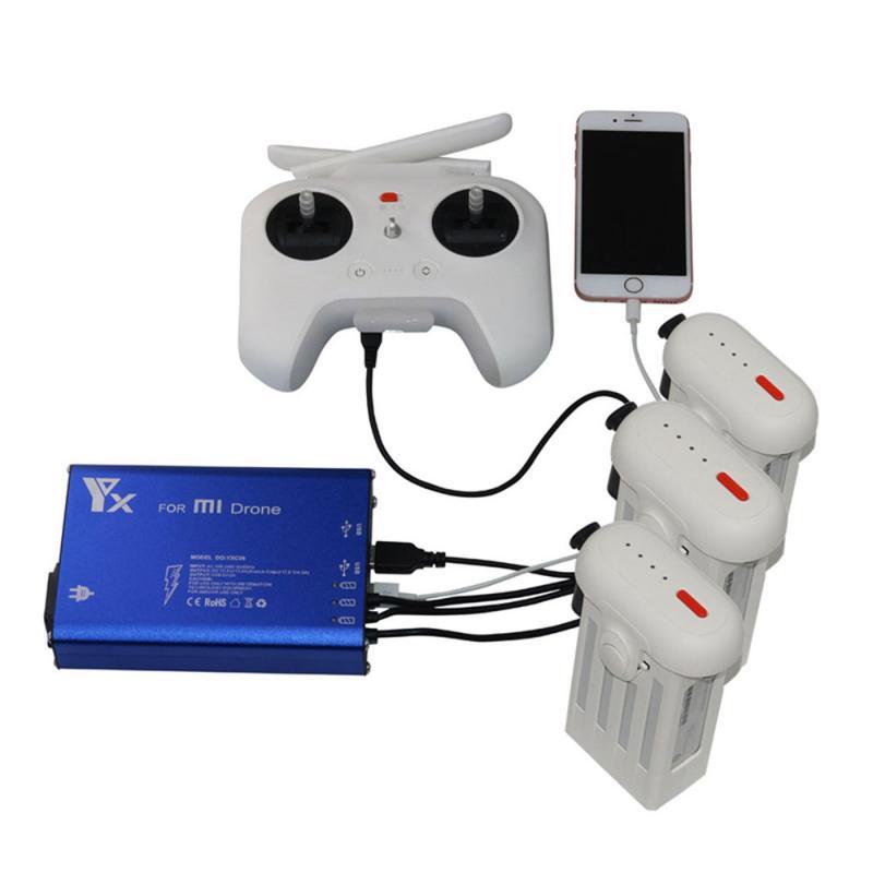 Nouveau 5 dans 1 Parallèle Puissance Européenne règlement Hub Intelligent Batterie Chargeur Pour XIAOMI MI Drone Z907