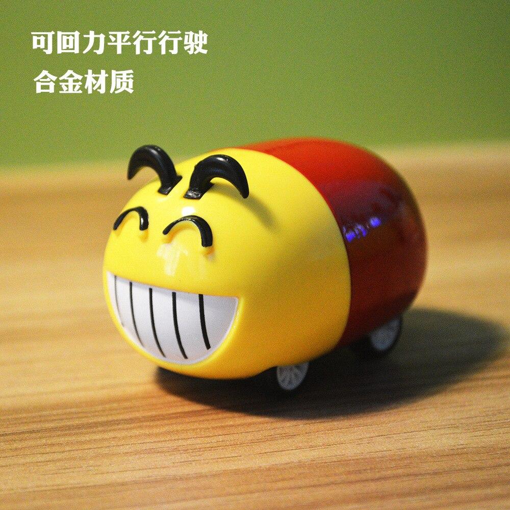 New 45 Degree Walk Alloy Stunt Car Racing Car Cute Funny Face Pack Cartoon Jenga Figure Toys Kart Pull Back Car Kids Hot Toys