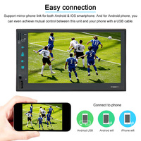 Двойной Din Smart Android 6,0 автомобиля MP5 MP3 плеер 7 дюймов 1080 P Сенсорный экран gps навигации с WiFi BT AM FM Автомобильный мультимедийный
