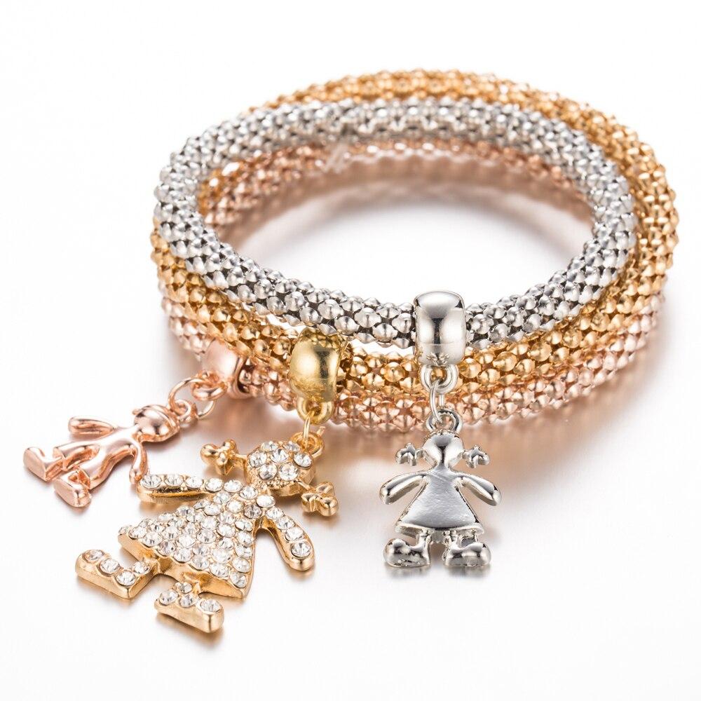 Silver Plated Friendship Bracelets  Pendant Bracelet Cartoon Character Bracelet