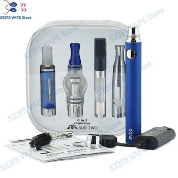 Vaporizer 4 in 1 kit evod battery Electronic cigarette 1100mah EvodBatery dry herb wax liquid cbd Vaporizer Starter Kit Vape Pen