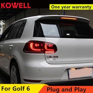 Image 1 - KOWELL 자동차 스타일링 VW 골프 6 MK6 GOLF6 R20 테일 라이트 LED 테일 라이트 LED 후면 램프 DRL + 브레이크 + 반전 + 신호 어셈블리