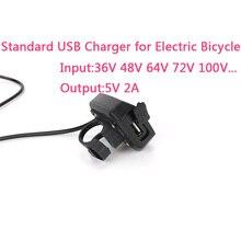 ZTTO Электрический велосипед USB зарядное устройство выход 5 в 2A для мобильных телефонов Ebike вход 36 в 48 в 72 в 100 в Руль управления для мотоциклов для Mid концентратор Двигатель наборы