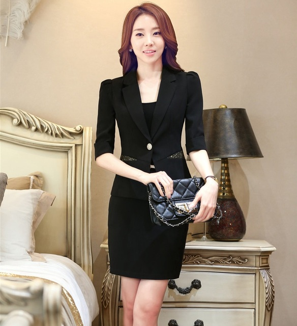 New Professional Business Work Suits Jackets And Skirt Fashion Formal Uniform Styles Ladies Outfits Blazers Clothing Sets S-4XL