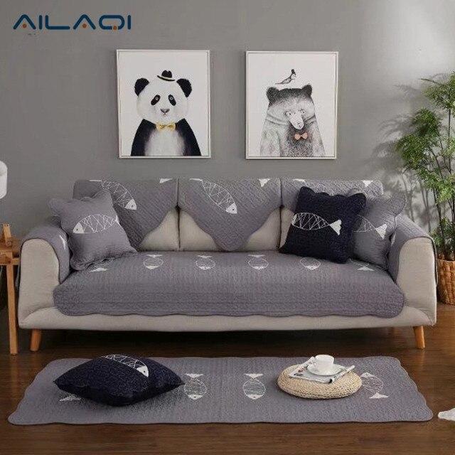 Incroyable AILAQI Petits Poissons Motif Coton épaississement Non Slip Salon Tissu  Solide Couleur Moderne Simple Housse