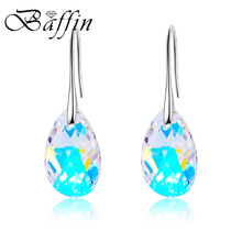 BAFFIN Water Drop Earrings Women Fashion Genuine Crystals From SWAROVSKI Silver Color Pendant Pendientes 2018 Mothers Day Gift