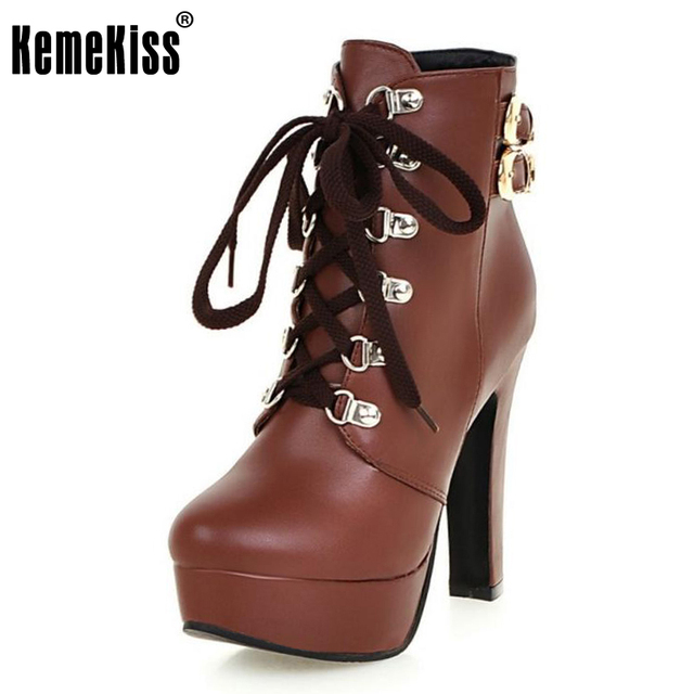 Women's Monk-strap Lace up Winter Ankle Boots