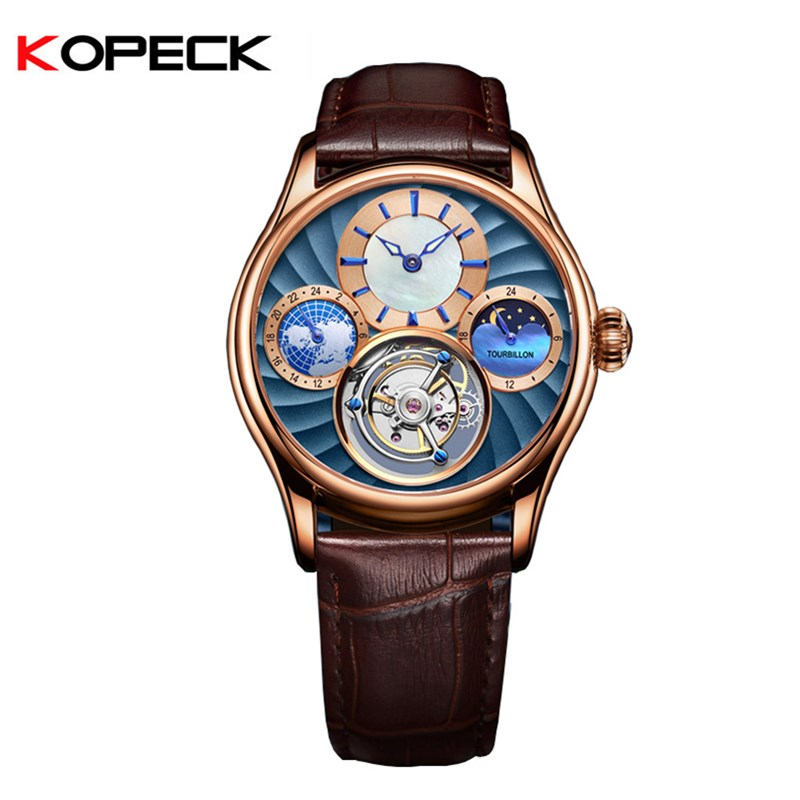 Moon Phase Real Tourbillon Mens Mechanical Watch 24-hour Small Dial Sapphire Mirror Luminous Hands Men Watches 30M WaterproofMoon Phase Real Tourbillon Mens Mechanical Watch 24-hour Small Dial Sapphire Mirror Luminous Hands Men Watches 30M Waterproof
