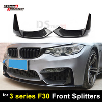 1 Pair Carbon Fiber Splitters For AN S F80 M3 Front Bumper For BMW 3 Series