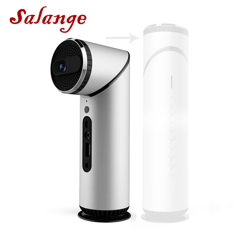 Salange S12 Mini Projector Android 7.1.2 OS For Full HD 1080P Portable DLP Projector With Bluetooth Battery WIFI Beamer