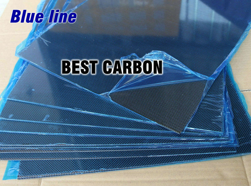 Free shipping 400mm x 500mm Blue line glossy Carbon Fiber Plate, cf plate , carbon sheet ,carbon panel 1pcs 0 5mm thickness 100x250mm 200x500mm 250x250mm 400x250mm 400x500mm 500x500mm carbon fiber plate sheet glossy 3k plain weave
