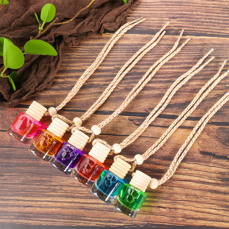 1pcs 10ml Glass Bottle Car Vehicle Aroma Oil Air Freshener Diffuser Essential Fragrance 6 Flavors