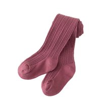 Winter Warm Solid Color Baby Stockings Cotton Tights for Girls Newborn Knit