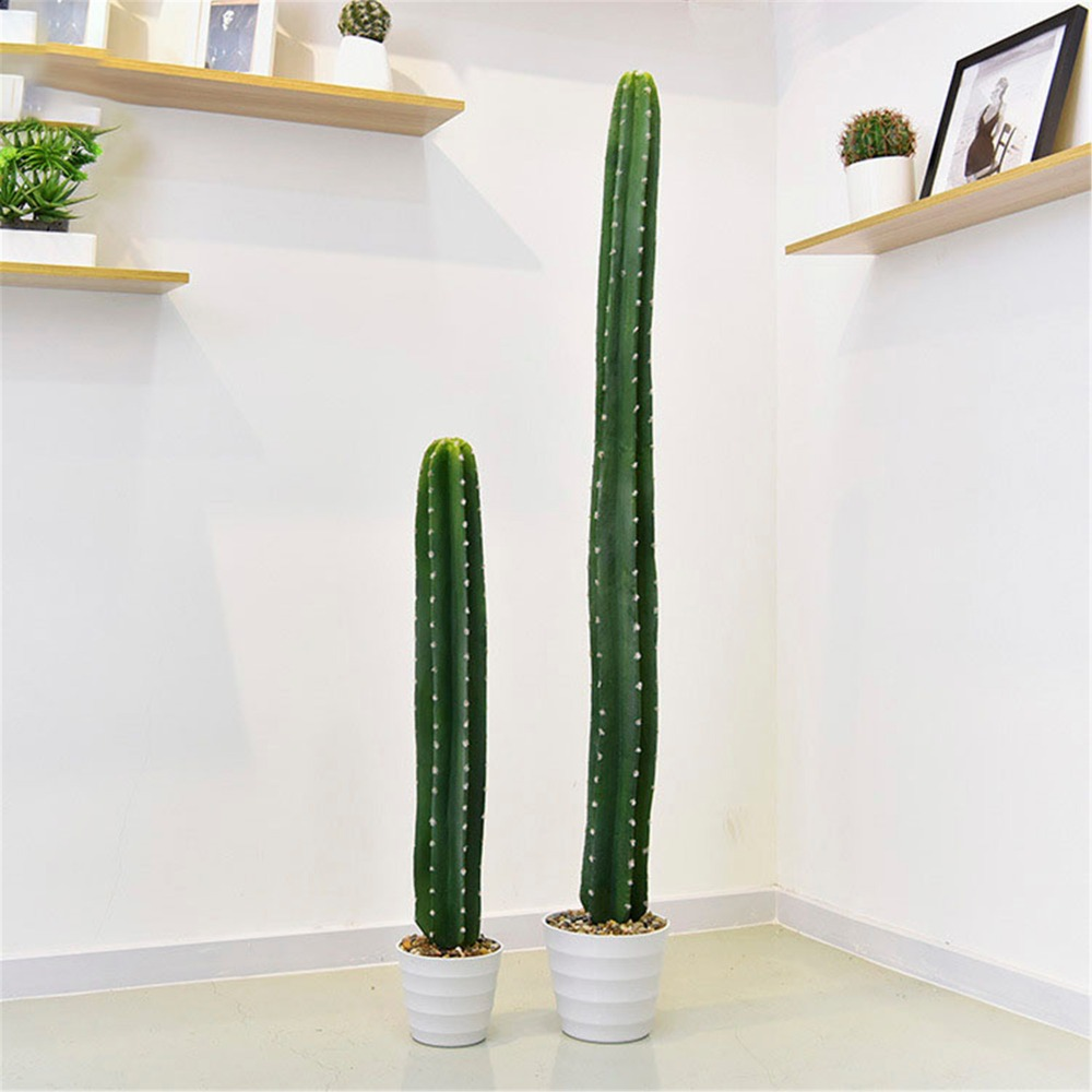 Indoor Plant Tropical Cactus Column Artificial Plant Christmas Simulation Fake Green Plant Decoration for Home Office Table Artificial & Dried Flowers     - title=