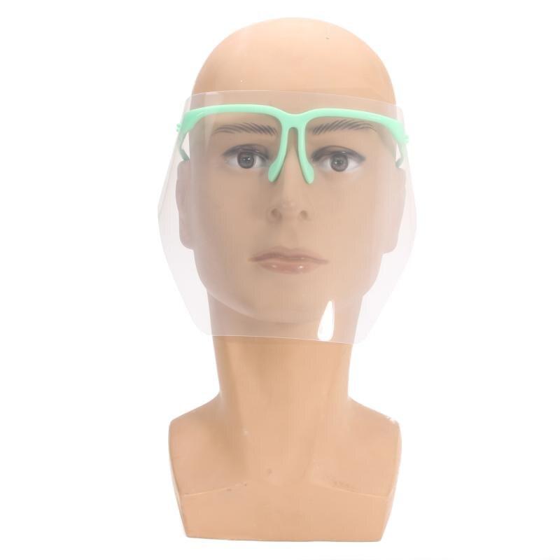 Detachable Dental Protective Mask Kit Adjustable 10 PCS Full Face Shield Visors + 1 Frame Anti-Fog Dustproof Cover Lab Equipment anti fatigue metal full frame shield sunglasses