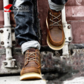 Z. Suo Autumn Winter British Men's Martin Boots Crazy Horse Leather With Plush Male Work Boots Fashion High Top Man Army Boots