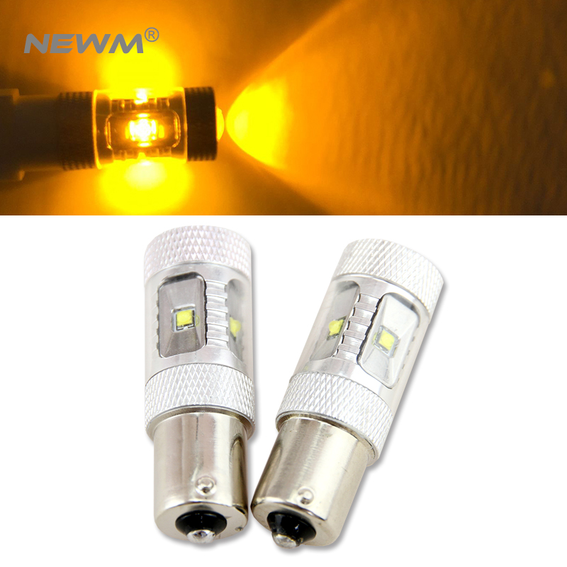 High Power 30W Amber BAU15S 7507 PY21W Canbus LED Replacement Bulbs For BMW F22 F30 F32 2 3 4 Series Front Turn Signal Lights amber error free pwy24w pw24w led bulbs for audi a3 a4 a5 q3 vw mk7 golf cc front turn signal lights for bmw f30 3 series drl