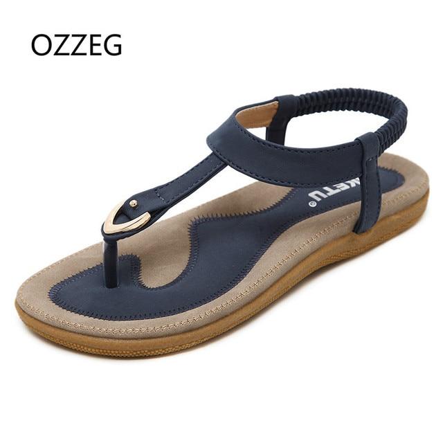 6b35f47f1 Women Sandals Summer Bohemia Flat Women Sandals Fashion Woman Flip Flops  Vintage Shoes Beach Comfort Lady Shoes Sandalias Mujer