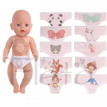 Doll Accessories Baby Born Doll Lovely pattern Doll Underpants Fit 43cm Baby Born Zapf Doll Best