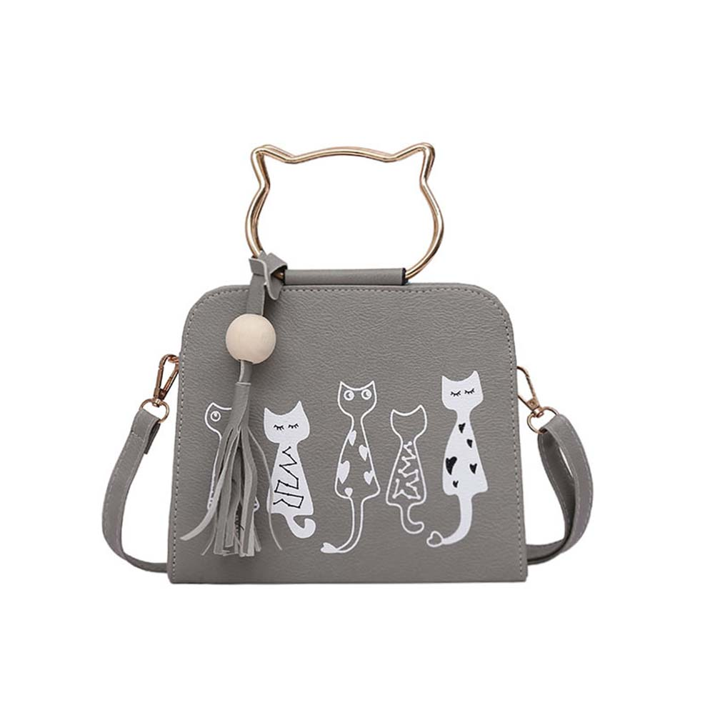 2017 New Fashion Ladies Girls Cute Cartoon Cats Printed Small Crossbody Bags Women Scrub Leather Handbags  Shoulder Bags Popular new woman shoulder bags cute canvas women big bags literature and art cartoon girls small fresh bags casual tote