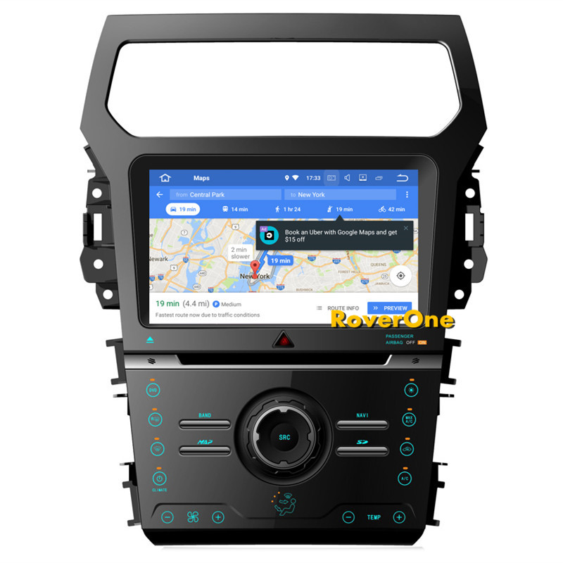 RoverOne S200 Android 8.0 Car Multimedia Player For Ford Explorer 2012+ Autoradio DVD Radio Stereo GPS Navigation Bluetooth