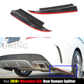 for Mercedes W117 Carbon Fiber Rear Splitter Benz CLA Class CLA250 CLA260 CLA45 AMG 2013 2014 2015 2016