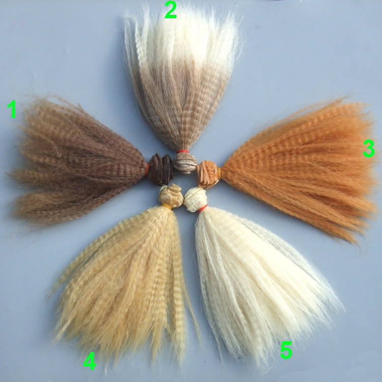 Quality 15CM thick doll hair kinky curly wigs for blyth doll 1/3 1/4 1/6 BJD Tilda doll wigs 1pcs 15cm length natrual color thick 1 3 1 4 1 6 bjd curly wigs wave doll hair