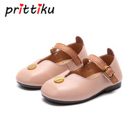 Baby Girls Genuine Leather Pink Flats Toddler Child Fashion Mary Jane White Loafers Little Kid Party