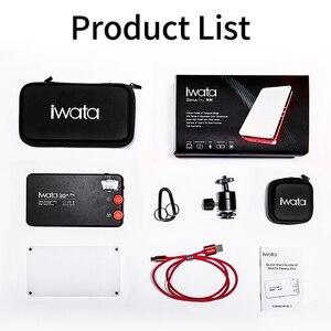 Image 5 - Iwata Gênio Pro GP 01 PRO 24 W 2600 K 6000 K Ajustável LED Luz de Preenchimento com Buit em bateria de lítio de Telefone Portátil CONDUZIU A Luz De Vídeo