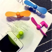 Портативный Гибкая Вентилятор Охлаждения Mini USB Cooler Портативный Для IOS iphone 5 5s 6 6s plus SE мобильный