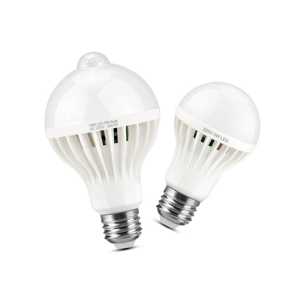 Ampoule LED automatique de capteur de son de mouvement de corps de lumières de nuit marche/arrêt automatique 3W 5W 7W 9W 12W lampe à LED de commande vocale pour le couloir de porche