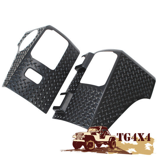 Black ABS Tail Light Guards Cover For Jeep Wrangler JK Full Size Tail Lamp  Guard Taillight