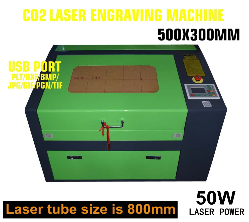 US $1386 99 5% OFF|50W CO2 LASER ENGRAVER 500x300 ENGRAVING MACHINE KH5030  50W AIR ASSIST WOODWORKING/CRAFTS USB U FLASH-in Wood Routers from Tools on